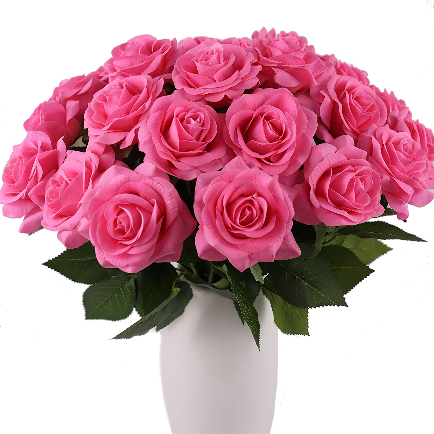 KISMEET Artificial Roses Fake Silk Real Finally popular brand Discount is also underway Long Touch Stem Flowers