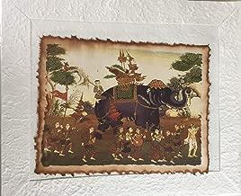 "Anya Nana Vessantara Pattern Thai Wall Art Coffee Painting Mulberry Paper Wall Home Decor Collect Gift 15""x12"""