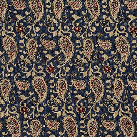 Pattern # E847 Black and Beige Traditional Paisley Jacquard Upholstery Fabric By The Yard