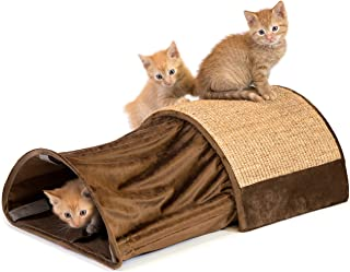 Kitty City Premium Cat Scratch Cave Tunnel, Woven Sisal Carpet Scratching Toy, Cat Scratching Furniture