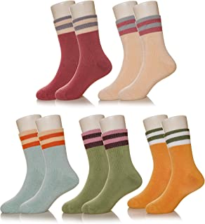 Eocom 5 Pairs Children's Winter Warm Cotton Socks Novelty Kids Boys Girls Socks