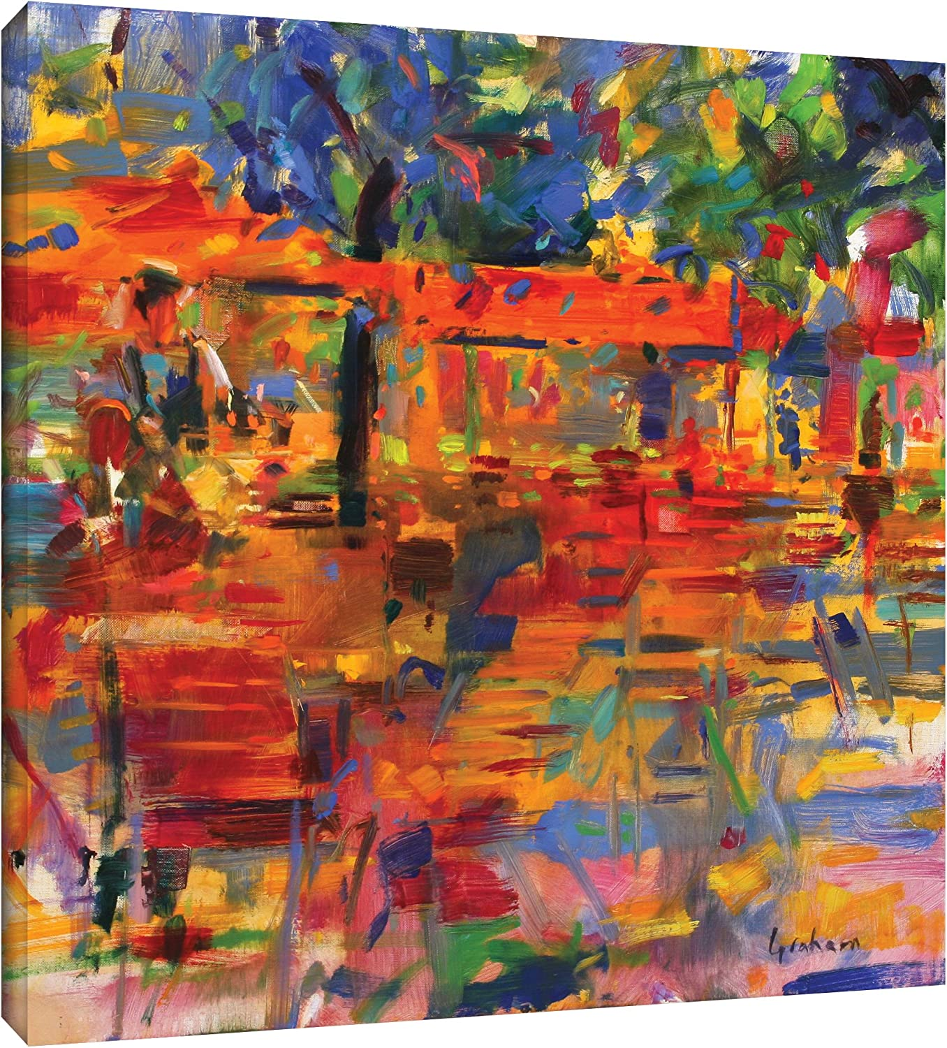 Peter Graham ''Falling Leaves, Paris'' Gallery Wrapped Canvas, 24X24