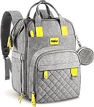 MILYFER Wickeltasche Rucksack Großer Babytaschen Multifunktions Wickeltaschen mit Wickelauflage, Schnullerhalter und Kinde...