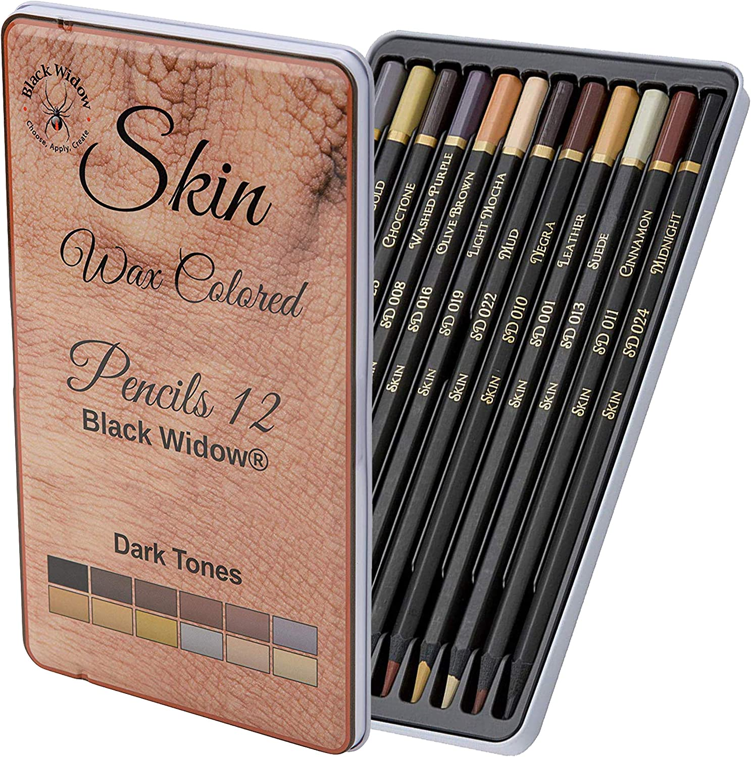 Black Widow Skin Colored Pencils Max 88% OFF unisex Color Adults for -