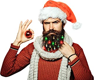 Best BEARDAMENTS Beard Lights - The Original Light Up Beard Ornaments, 16pc Colorful Christmas Facial Hair Baubles for Men in The Holiday Spirit with Clip for Easy Beard Attachment Review