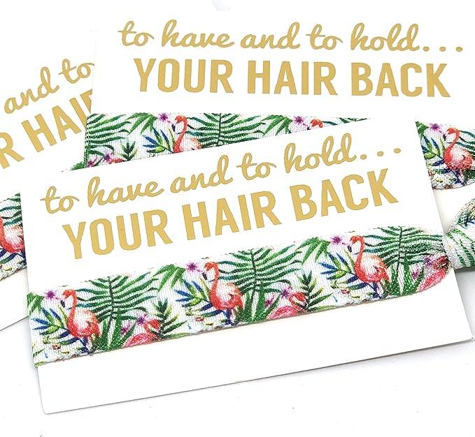 Tropical Floral Bridal Hair Tie Bride Wristbands Bracelets Hen Party Favours