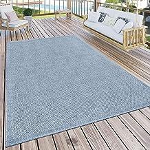 Buiten vloerkleed voor terras en balkon keuken effen modern blauw, Maat:120x160 cm