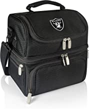 PICNIC TIME NFL Oakland Raiders Pranzo Insulated Lunch Tote with Service for One, Black