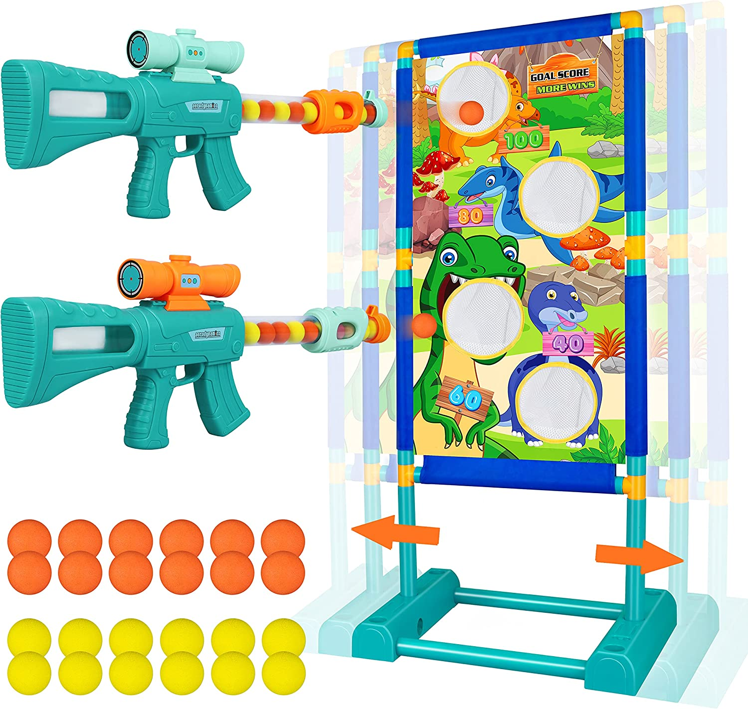 Time sale Shooting Game Toy for Age 5 6 7 Year-end gift Years 8 Boys Foam 10+ Old 9 2pk