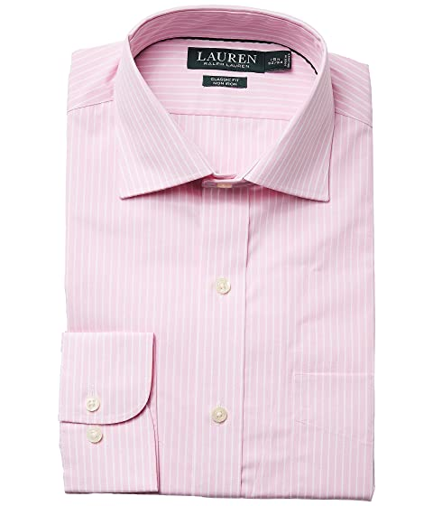 Fit Ralph Stripe LAUREN Dress Collar Poplin Shirt Spread Non Classic Iron Lauren tanwOq