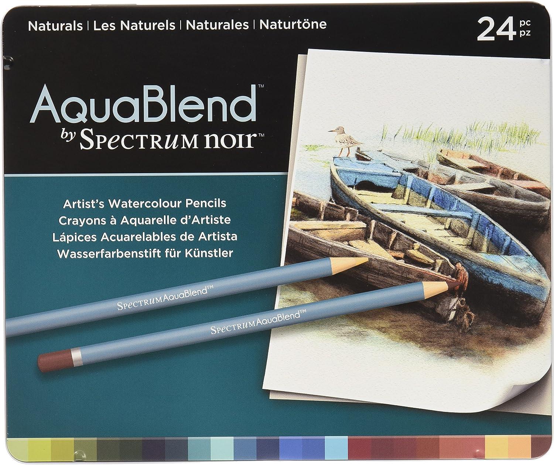 Spectrum schwarz - Buntstifte aus der Reihe Aquablend in Natürlichen Farben, Mehrfarbig, Packung mit 24 Stiften B01AMU0FMK    Hervorragende Eigenschaften