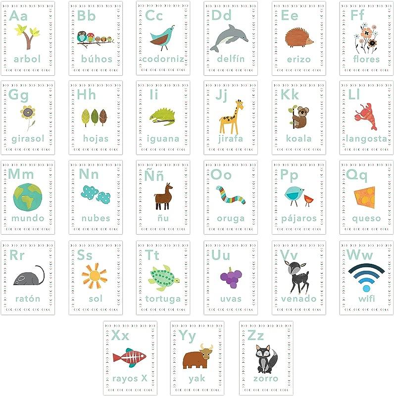Our World Spanish Alphabet 5x7 Wall Cards