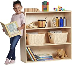 ECR4Kids Birch Streamline Storage Cabinet | Hardwood Classroom & Home Storage Solution for Kids | 3-Shelf with Back, 36
