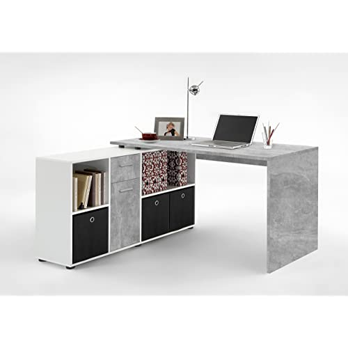 Lexa Corner Home Office Computer Desk Finished In All New Natural Stone