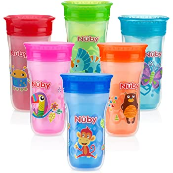 Pack of 2 Assorted colors Nuby Sipeez 360 Degree Wonder Mini Cups