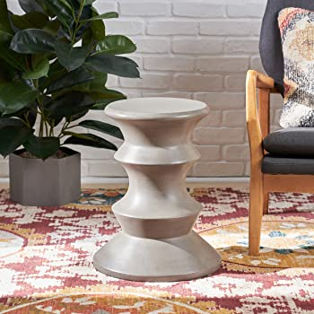 Aged Gold Metal Sagebrook Home 11007 Metal Accent Table 19.5 x 19.5 x 28.5 Inches