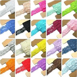 Lace Fabric JLIKA 20 Yards Stretch Elastic - 1