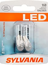 SYLVANIA - 168 T10 W5W LED White Mini Bulb - Bright LED Bulb, Ideal for Interior Lighting - Map, Dome, Cargo and License Plate (Contains 2 Bulbs)