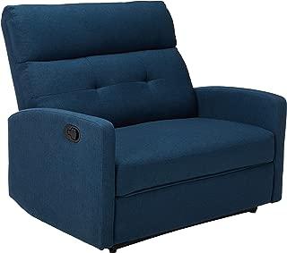 Christopher Knight Home Hana Recliner, Fabric/Navy Blue