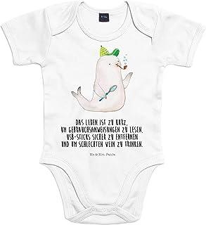 Mr. & Mrs. Panda Mr. & Mrs. Panda Strampler, Geburt, Baby Body Robbe Sherlock mit Spruch - Farbe Transparent