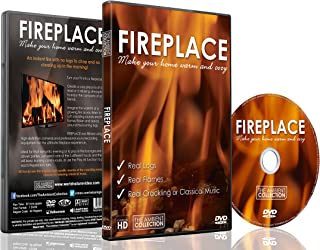 Fireplace DVD - Fireplace 2016 Filmed in High Definition included HD 40 Minute Fire Download for TV or I Pad