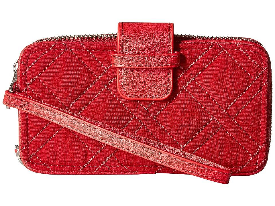 Vera Bradley RFID Smartphone Wristlet (Cardinal Red) Wristlet Handbags