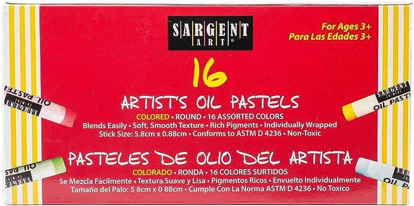 Sargent Art Standard Size Oil Pastels 16/Pkg-