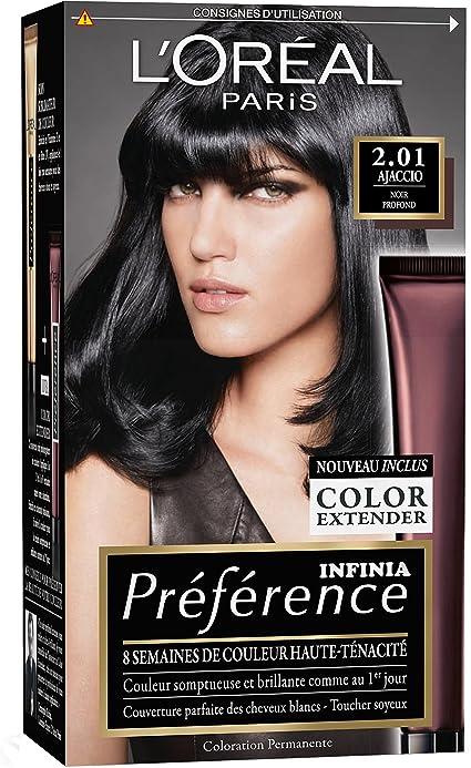 L Oréal Paris Préférence - Coloración permanente, negro abis ...