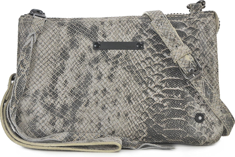 Tyoulip Sisters, Damen, Handtaschen, Umhängetaschen, Umhängetaschen, Umhängetaschen, Clutch, Unterarmtaschen, Schlangenoptik, Hellgrau, 20 x 13,5 x 2 cm (B x H x T) B01M4QD849  Geeignet für die Öffentlichkeit 997d49