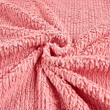 Shannon Fabrics 0457753 Shannon Minky Luxe Cuddle Chenille Coral Fabric by the Yard