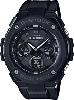 Casio Men's G Shock Gsts100G-1B Black Resin Japanese Quartz Diving Watch, Analog-Digital Display