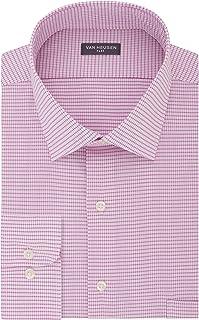 Van Heusen Men's Big Dress Shirts Tall Fit Flex Check Dress Shirt