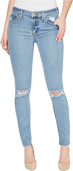 Nico Mid-Rise Ankle Raw Hem Super Skinny Five-Pocket Jeans in Hooligan