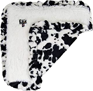 product image for BESSIE AND BARNIE Spotted Pony/Snow White Luxury Ultra Plush Faux Fur Pet, Dog, Cat, Puppy Super Soft Reversible Blanket