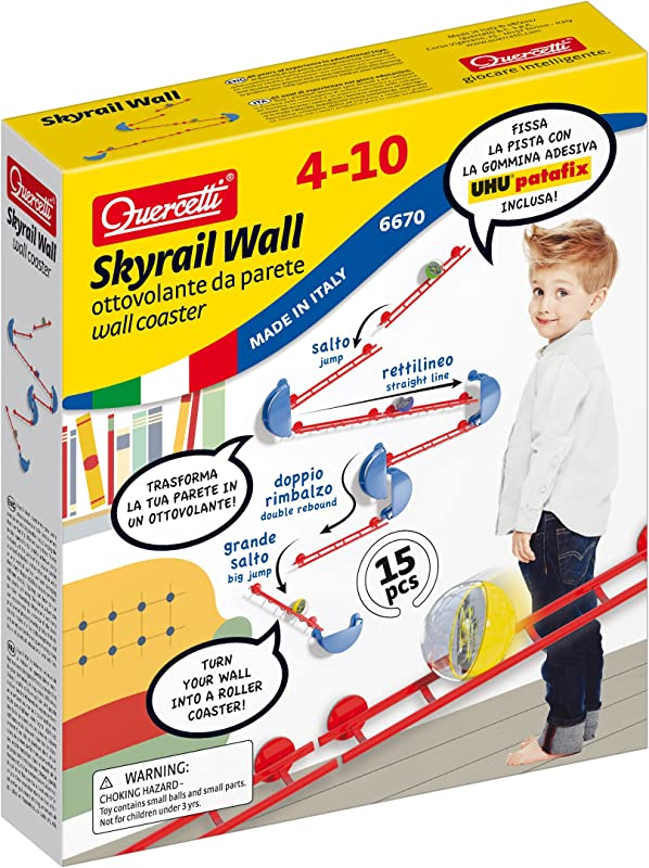 Quercetti Skyrail Wall Coaster Turns Your Wall Into A Roller Coaster