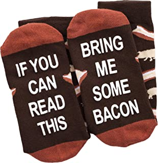 If You Can Read This Bring Me Socks - Beer, Wine, Bacon, Taco, Tea - Funny Socks - Men & Women