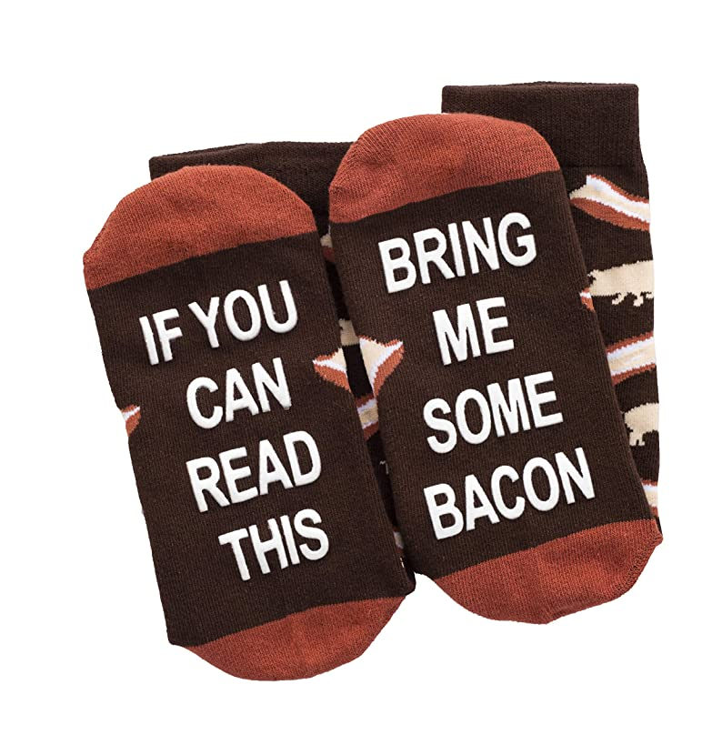 If You Can Read This Bring Me Some Bacon Socks - Funny Novelty Gift for Men & Women