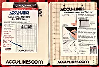 AccuLine Drawing Grid - A Clipboard with a Bonus!! Includes The Accu-Line Sketch Design System - Single Clip on Smooth Side - AccuLine on The Flip Side (Item SC-71)