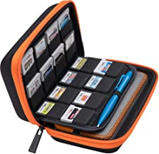 BRENDO Carrying Case for New Nintendo 2DS XL, Includes Large Stylus, Fits Wall Charger, 24 Game Cartridge Case Holder, Lar...