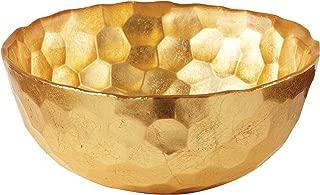 Elegance Odessa Gold Glass Bowl, 6-Inch