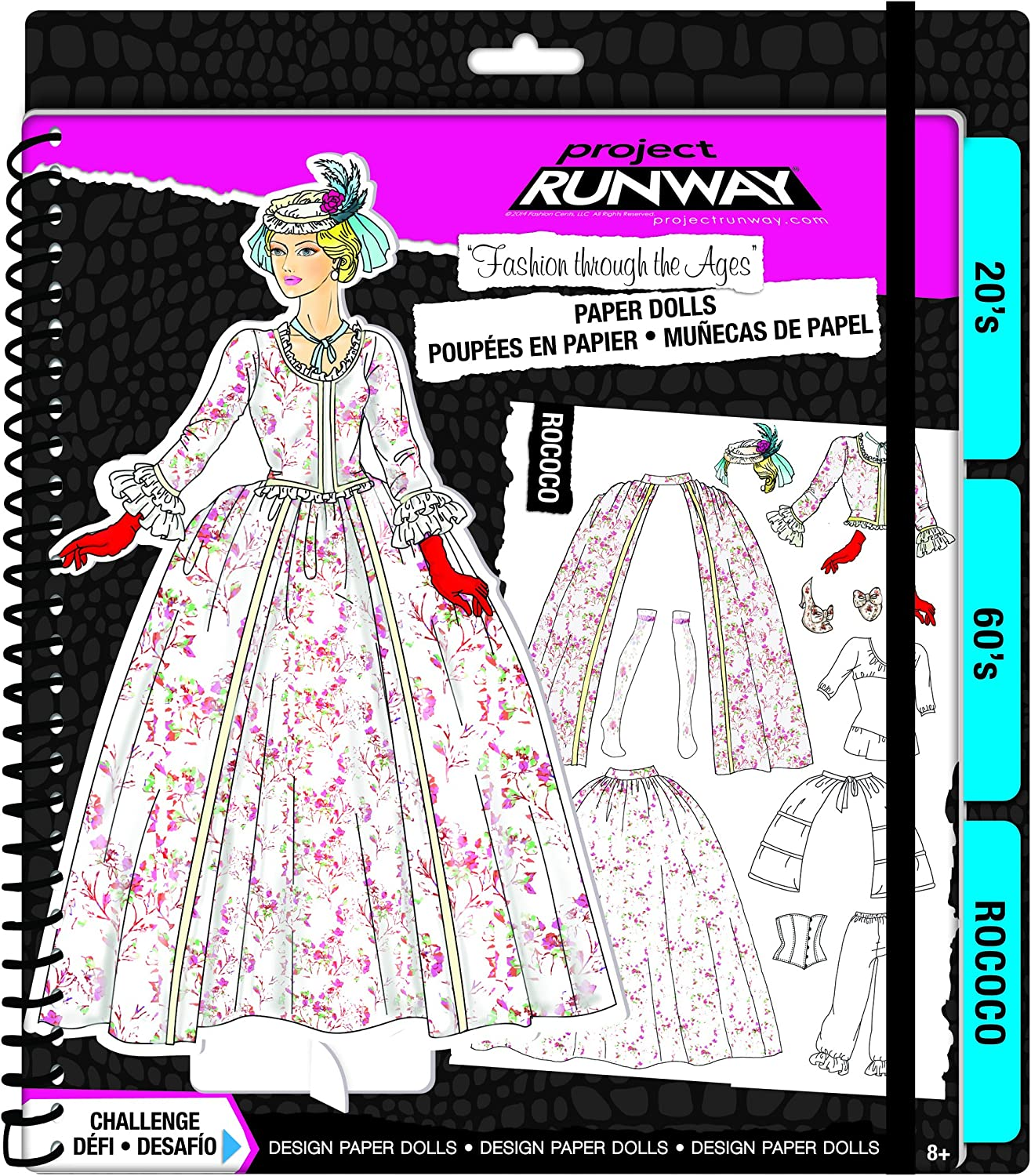 Fashion Angels Project Runway  Fashion Through the Ages  Paper Dolls Kit