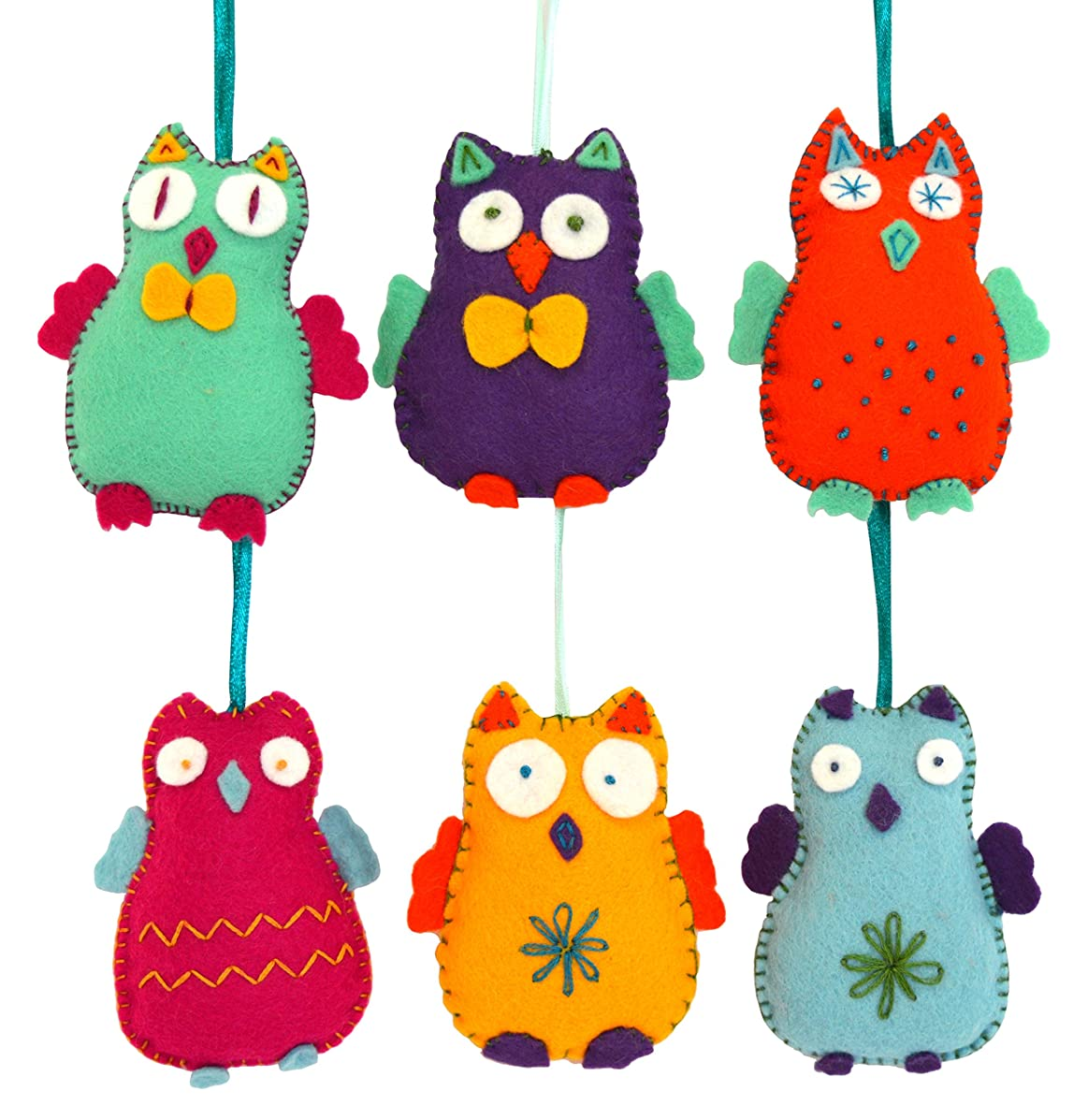 Corinne Lapierre Felt Happy Owls