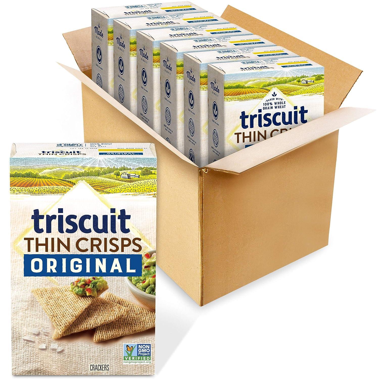 Triscuit Outlet sale feature Thin Crisps Original Whole Grain High order 7. 6 Crackers - Wheat