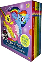 My Little Pony Big Box of Books Collection 4 Books Box Set (Applejacks Busy Day, Fluttershy and the Perfect Pet, Be Brave Twilight Sparkle, Get Well Soon Rainbow Dash)