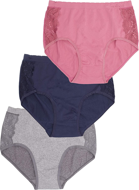 Gloria Vanderbilt Womens Underwear Briefs Panties Pack of 3
