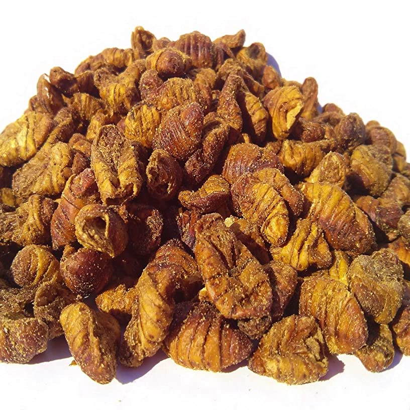 Freeze Dried Silk Worm Pupae/Waxgrubs for Koi, Pond Fish, Turtles, Large Fish. Aquatic Foods Freeze Dried Tropical Fish Foods