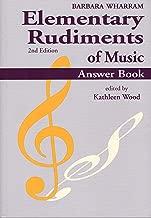 TWERA - Elementary Rudiments of Music Answer Book, 2nd Edition