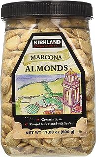 Kirkland Marcona Almonds, Roasted and Seasoned with Sea Salt, 17.63 Ounce