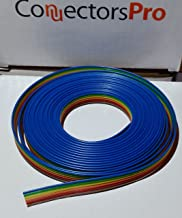 Pc Accessories - Connectors Pro IDC 6P 1.27mm Pitch Rainbow Color 15 Feet Flat Ribbon Cable for 2.54mm Connector