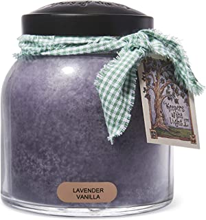 A Cheerful Giver Lavender Vanilla Papa Jar Candle, 34-Ounce